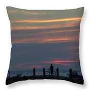 Pier A Long Way Out 4 Throw Pillow
