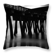 Pier Abstract Throw Pillow