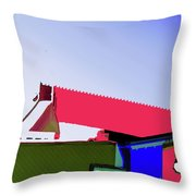 Pier Abstraction Throw Pillow