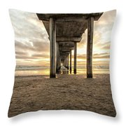 Pier And Clouds Throw Pillow