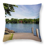 Pier At Kimberly Point Throw Pillow