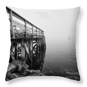 Pier At Popham Throw Pillow