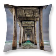 Pier Throw Pillow by Doug Oglesby
