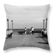 Pier End View At Skegness Throw Pillow