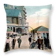 Pier Gates Llandudno Wales Throw Pillow
