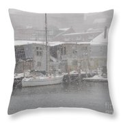 Pier In Disrepair Throw Pillow
