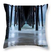 Pier Into The Ocean Throw Pillow