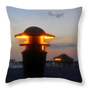Pier Lights Throw Pillow