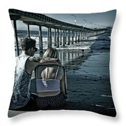 Pier Love Throw Pillow