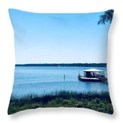 Pier On The Bay Throw Pillow
