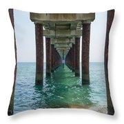 Pier On The Outer Banks Throw Pillow