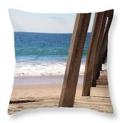 Pier On The Pacific Throw Pillow