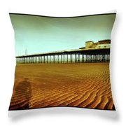 Pier Open Every Day Throw Pillow