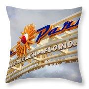 Pier Park  Throw Pillow