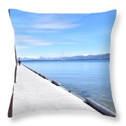 Pier Posted Throw Pillow