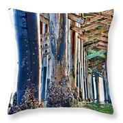 Pier Pylons Balboa Throw Pillow