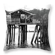 Pier Shack Throw Pillow