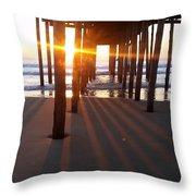 Pier Shadows Throw Pillow