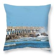 Pier Surf Throw Pillow