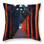 Pier Symmetry   Throw Pillow