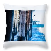 Pier Ventura Ca Throw Pillow