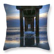 Pier View At Dawn Throw Pillow