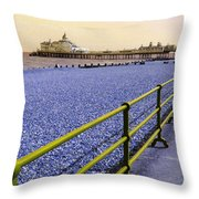 Pier View England Throw Pillow