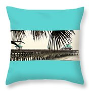 Pier Walk Throw Pillow
