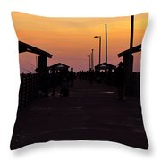 Pier Work Number Six Throw Pillow