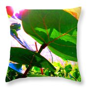 Piercing Sea Grapes Throw Pillow