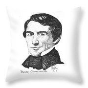 Pierre Chouteau Jr Throw Pillow