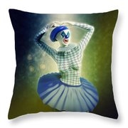 Pierrette At The Opera Throw Pillow