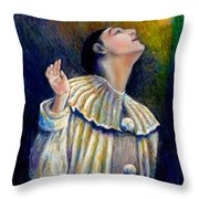 Pierrot's Peering Into The Light Throw Pillow