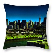 Piers Of San Francisco Throw Pillow
