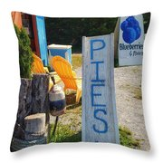 Pies, Blueberries And More Throw Pillow