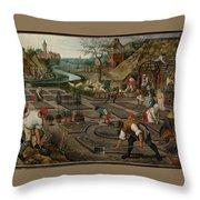 Pieter Breughel The Younger Throw Pillow
