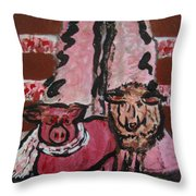 Pig And Sheep Throw Pillow