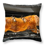 Pig Plus Barbecue Equals Mmmm Good Throw Pillow