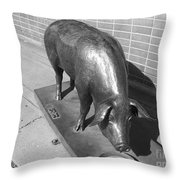 Pig Sculpture Grand Junction Co Throw Pillow