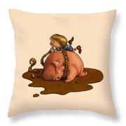 Pig Tales Throw Pillow