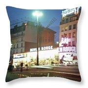 Pigalle Paris Throw Pillow