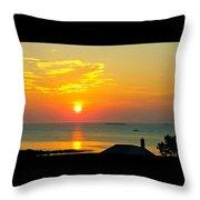 Pigeon Cove Summer Sunrise Throw Pillow