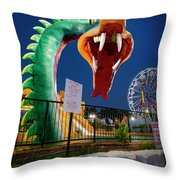 Pigeon Forge Dragon Throw Pillow