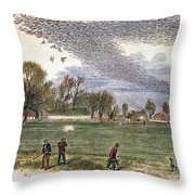 Pigeon Hunting, C1875 Throw Pillow