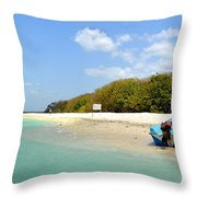 Pigeon Island Throw Pillow