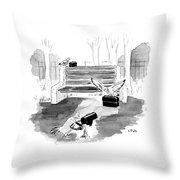 Pigeon Lunch Break Throw Pillow