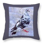 Pigeon On Ice  1 Throw Pillow
