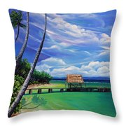 Pigeon Point   Tobago Throw Pillow