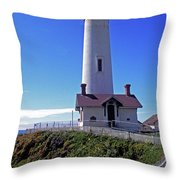 Pigeon Point Lighthouse 3 Throw Pillow