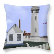 Pigeon Point Lighthouse California Throw Pillow